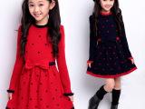 女童毛衣儿童针织衫中大童打底衫童装春秋装女针织长袖羊毛连衣裙