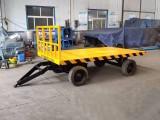 创硕大吨位重型工具车 牵引式平板拖车 车间搬运车