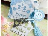 结婚回礼 商务小礼品 公司小礼物 现货批发供应蓝盒装皇冠书签
