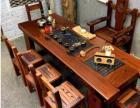 云浮老船木茶桌椅组合新中式仿古户外阳台小茶桌功夫茶台