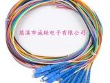 诚联批发单模单芯SC12芯束状尾纤 电信级1.5米光尾纤