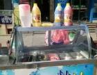 出售二手炒酸奶机器 有冰柜包技术含有勺子一类的