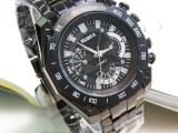 供应时尚休闲标准刻度男士精仿钢带手表爆款畅销厂家直销走量批发