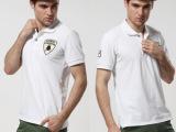 2014夏爆款男装兰博基尼翻领男式T恤 新款外贸出口品牌t恤男批