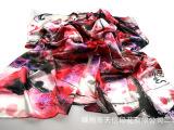 中国风名画丝巾 真丝大方巾 杭州丝绸礼品 个性定制