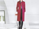 高端定制女式大衣 韩版修身中长款大衣外套女 单排扣女外套