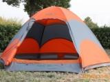 世外源户外蒙古包式野营帐篷 3-4人双层防风防雨户外帐篷