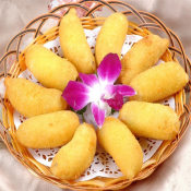 冷冻脆皮香蕉 速冻精品油炸香蕉 糯米所制外焦内嫩 200个