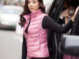 厂家直销 秋冬新 薄款羽绒马甲 女式立领 批发零售 一件代发