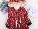 儿童韩版时尚棉衣批发 2014冬季新款女童纯棉抓绒外套 宝宝棉服