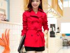2015新款女式短款风衣外套春秋韩国韩版大码女装修身显瘦小风衣