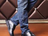 2015新春款时尚潮流男鞋圆头布洛克鞋子男单鞋英伦风温州皮鞋批发