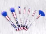 深圳凯诺化妆刷工厂批发7支化妆刷套装流沙化妆刷包美妆工具代理