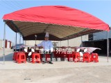 唐山市篷程户外直销6X12弧形折叠流动包桌酒席帐篷