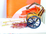 【金牌厂家】全国最优价供应全手工布蓬人力黄包车中国风工艺礼品