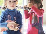 儿童装女童加绒加厚长款卫衣2014秋冬装新款小兔兔卡通上衣3-8岁