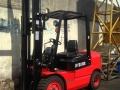 转让三节门架4米叉车/二手柴油3吨叉车保修送货