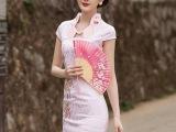 2015夏季新款夏时尚改良旗袍连衣裙日常显瘦修身旗袍短款礼服现货