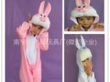圣诞儿童小白兔儿童表演动物衣服舞会装扮小兔子儿童表演衣服