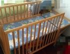 实木婴儿床,可以放长两用