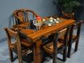 齐齐哈尔市老船木茶桌椅子仿古茶台实木沙发茶几餐桌办公桌家具