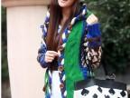 淘宝热销新品2014新款韩版手钩花朵复古长款毛衣开衫外套 绿色