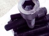 厂家直供镀锌内六角螺栓 碳钢8.8级高强度细牙六角螺栓