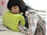 卡通动物暖手抱枕靠垫 U型枕腰靠枕 熊猫青蛙皮皮暖手捂批发