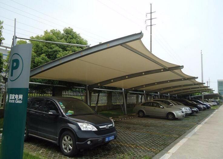 专业活动棚户外遮荫棚挡晒棚汽车车棚膜结构停车棚膜结构景观棚
