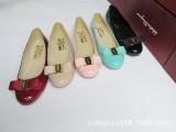 2014新款春鞋欧洲站女鞋女单鞋性感平跟圆头真皮金属扣女式鞋厂家