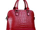 2014新款真皮女包 时尚鳄鱼纹欧美大牌包包手提包 厂家直销