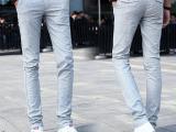 批发2015夏季薄款男式休闲裤修身男士小直筒棉麻长裤子一件代发