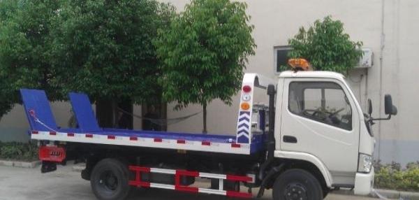 国四国五蓝牌黄牌一拖二清障车道路救援车平板拖车厂家直销