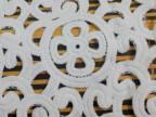 厂家直销牛奶丝棉线网布(均可定做)花边满幅领花连带刺绣