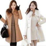 新款韩版呢子大衣毛呢外套女修身显瘦中长款