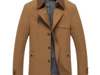 2014秋季新款男风衣中长款修身英伦薄款男装风衣外套