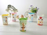 陶瓷杯 情侣咖啡杯 小清新创意水杯子 陶瓷马克杯 七夕礼物
