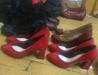 康莉 安玛莉大红色皮鞋