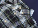 欧美外贸尾单POL* RL 纯棉格子 男童衬衫