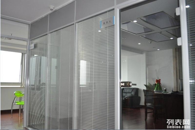 北京建国门安装玻璃隔断定做安装百叶窗