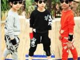2013秋款新款骷髅印花头男女童卫衣套装中大儿童长袖两件套