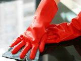 家务乳胶手套 清洁卫生 洗衣手套 单层无绒乳胶手套 短袖敞口手套