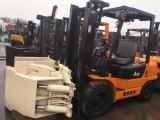 供应二手杭州3吨夹抱叉车 自动挡 三级门架