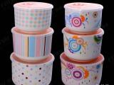 陶瓷密封储物罐三件套  特大号保鲜碗保鲜盒三件套 礼品订制log
