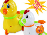 正品汇乐513宝宝奇趣小动物快乐发条上链小鸡 婴幼儿益智声光玩具