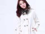 2013韩版女装冬装新款毛领斗篷呢子大衣