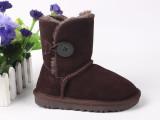 厂家一件代发男女儿童雪地靴 防滑真皮牛筋底鞋 特价包邮