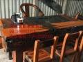 阳江市老船木家具茶桌椅子沙发茶几茶台餐桌博古架办公桌床鱼缸