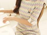 14女装春装新款 韩版打底蕾丝A字修身圆领中袖连衣裙