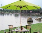 藤编桌椅、铸铝桌椅、遮阳伞等户外用品批发